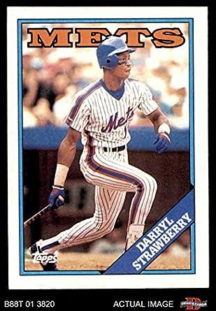 Amazoncom 1988 Topps 710 Darryl Strawberry New York Mets