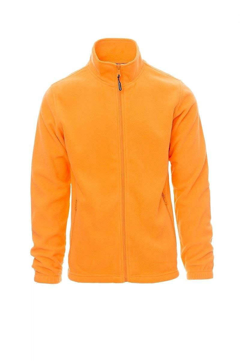 PAYPER Nepal Felpa Pile Uomo Donna 100/% Poliestere Chiusura Zip Elastici stringi Polso Tasche Laterali Arancione