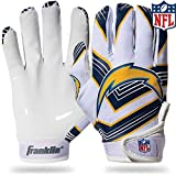 NFL Los Angeles Chargers Youth Receiver Gloves,White,Medium