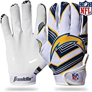 Franklin Sports Youth NFL Football Receiver Gloves - Receiver Gloves for Kids - NFL Team Logos and Silicone Pa