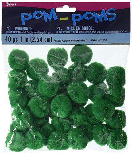 Darice 40 Piece Acrylic Pom Poms, 1