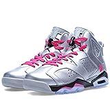 Nike (Gs) Big Kids Air Jordan 6 Retro Gg Basketball Shoes, Grey, 7 M Us