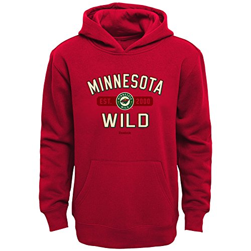 (Outerstuff NHL Minnesota Wild Boys Kids Todays Highlights Fleece Hoodie, Large/(7),)