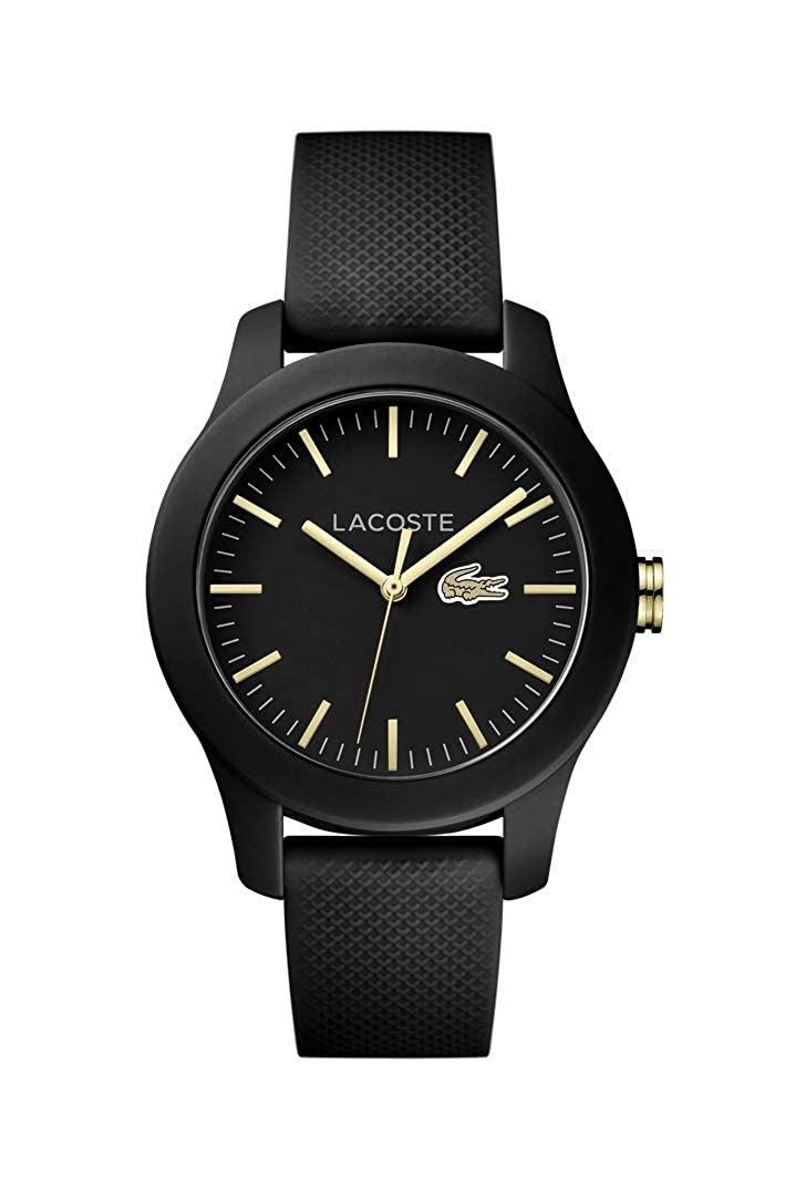 Lacoste Women s Ladies 12.Stainless Steel Quartz Watch with Silicone Strap, Black, 2000959