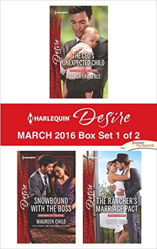 book cover of Harlequin Desire March 2016 - Box Set 1 of 2