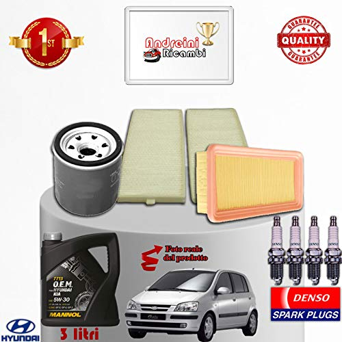 Service Kit Oil Filters GETZ 1.1 45KW 62CV from 2007 ->: