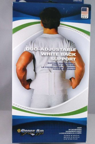 (BACK BELT DUROFOAM SPORTAID White X-Large 3251 by SportAid)