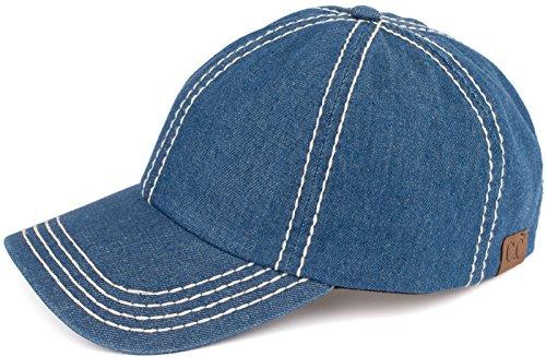H-202-6211 Denim Baseball Cap - Blue
