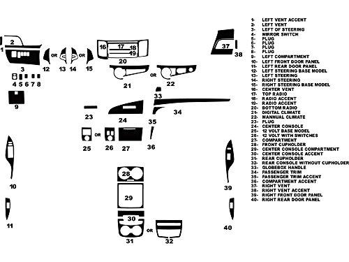 Kits Dash Wood Toyota (Rdash Dash Kit Decal Trim for Toyota Sienna 2011-2014 - Wood Grain (Burlwood Honey))