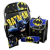 Lego Batman 5 piece Backpack School Set (One Size, Black/Grey)