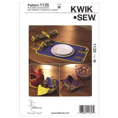 Kwik Sew K1135 Placemat Sewing Pattern, Bunholders