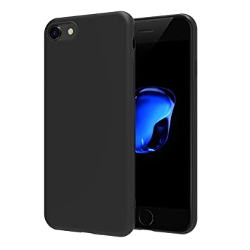 AICEK iPhone 7 / iPhone 8 Funda, Negro TPU Apple iPhone 7 Carcasa Funda Suave Flexible Piel Resistente a los Arañazos Silicona para iPhone 7 / iPhone ...