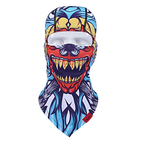 Holloween Gift Outdoor Headgear Clown Motorcycle Bicycle Riding Full Face Mask -
