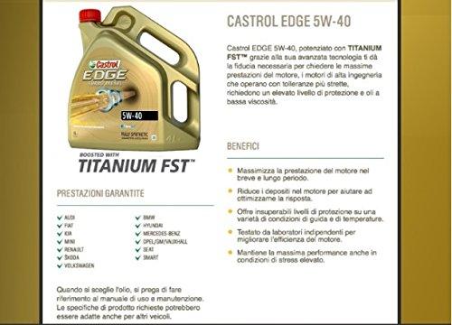 Castrol Edge Turbo Diesel FST 5W40 - Aceite para motor, 4 l: Amazon.es: Coche y moto