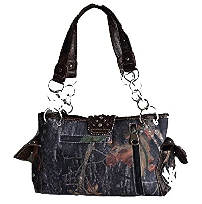 western camo mossy oak belt buckle rhinestone satchel purse bag wallet