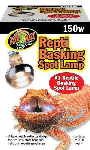 Zoo Med Repti Basking Spot Bulbs, 150 watt, E27 Threaded Base, Set of 2 Bulbs Bundle with Carolina Custom Cages' Chlorhexidine Solution 2%; 1 Refill Makes 32 oz. of Working ()