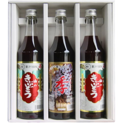TasukuMiyuki SA470 gift set (two of fruit juice 100% grape juice 600ml 3 pieces) by TasukuMiyuki