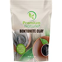 Indian Healing Bentonite Clay Mask - Detoxifying Facial Mask Acne Scar Removal Treatment for Hair & Skin, Face Care Masks Natural Deep Cleansing, Pore Minimizer Detox Clay Cleanser Powder 16 oz