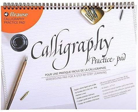 Cuaderno de práctica caligrafía Brause con forro, A4