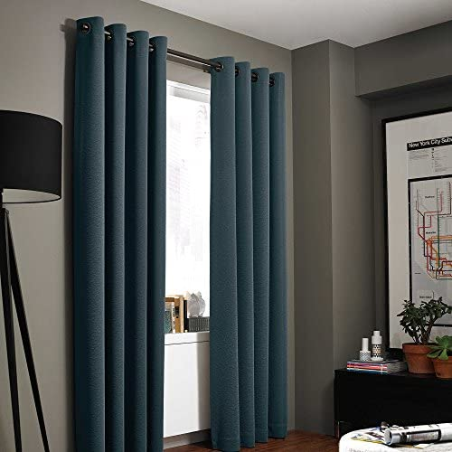 Kenneth Cole Reaction Home Gotham Texture 95-Inch Lined Grommet Window Curtain Panel