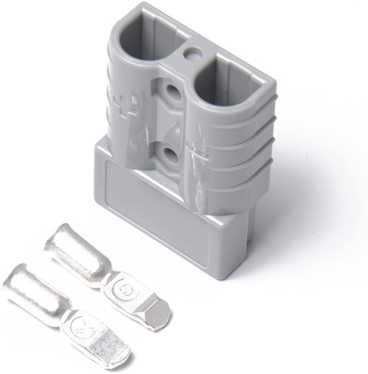 Grey VORCOOL Pair 50/A 600/V Rechargeable Quick Disconnect Plug Trailer Connector for Winch with Cables from 25/cm