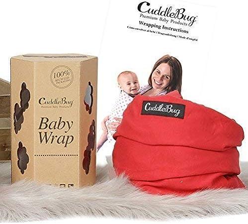 Rose Flexible CuddleBug Mains Libres Echarpe de Portage 9 en 1 Cadeau Naissance - Couverture de Portage Taille Unique Porte B/éb/é jusqu/'/à 16kg Douce
