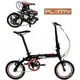 PLENTY Bicicleta Plegable R14 Ligera 7 Velocidades Shimano
