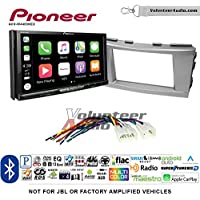 Volunteer Audio Pioneer AVH-W4400NEX Double Din Radio Install Kit with Wireless Apple CarPlay, Android Auto, Bluetooth Fits 2007-2011 Non Amplified Toyota Camry (Silver)
