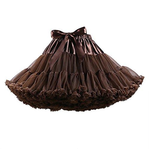 ZAMME Las niñas de las mujeres se visten con capas de bailarina princesa falda de tutú marrón