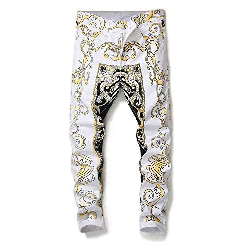 Stampa Pantaloni Di Shopping Marea Nuovi Easy Dei White Stampati Del Casuali Esili Go Fiore Nightclub q0gUnt