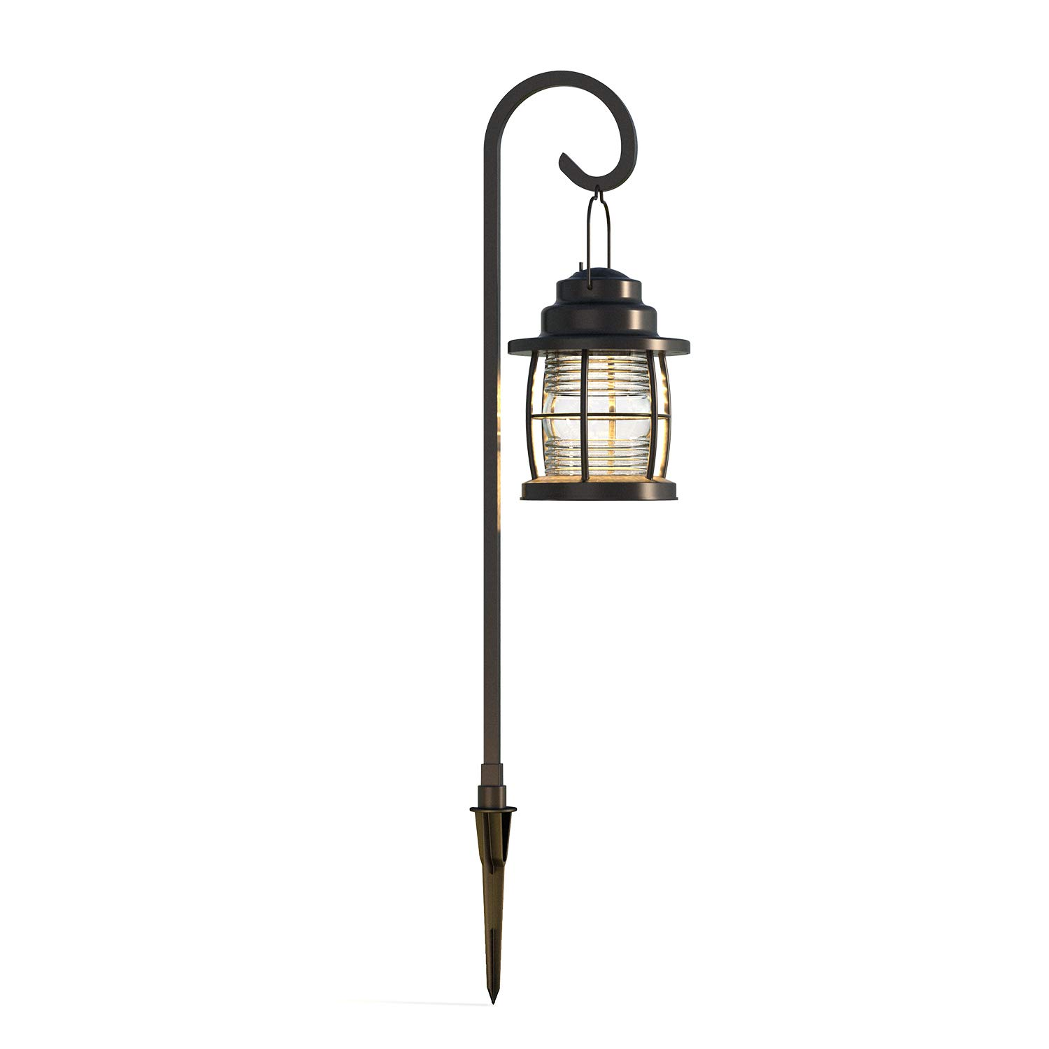 GOODSMANN Harbor Collection LED Pathway Light LED Low Voltage Landscape Lighting, Hanging Pathway Lights Dual Use Shepherd Hook Lights for Driveway, Yard, Lawn, Pathway, Garden 9920-4110-01