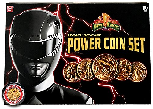 Bandai Saban's Mighty Morphin Power Rangers 2017 Legacy Limited Edition Die-Cast Coin Set with MMPR Multi-Zord Morpher (Mighty Morphin Power Rangers Zords)