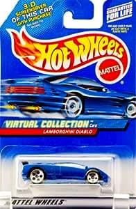 Hot Wheels Blue Lamborghini Diablo 2000 1:64 Scale Virtual Collection Die Cast Car #114