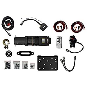 SuperATV 5000 Lb. Black Ops Synthetic Rope UTV/ATV Winch - With Wireless Remote and 50' Synthetic Rope