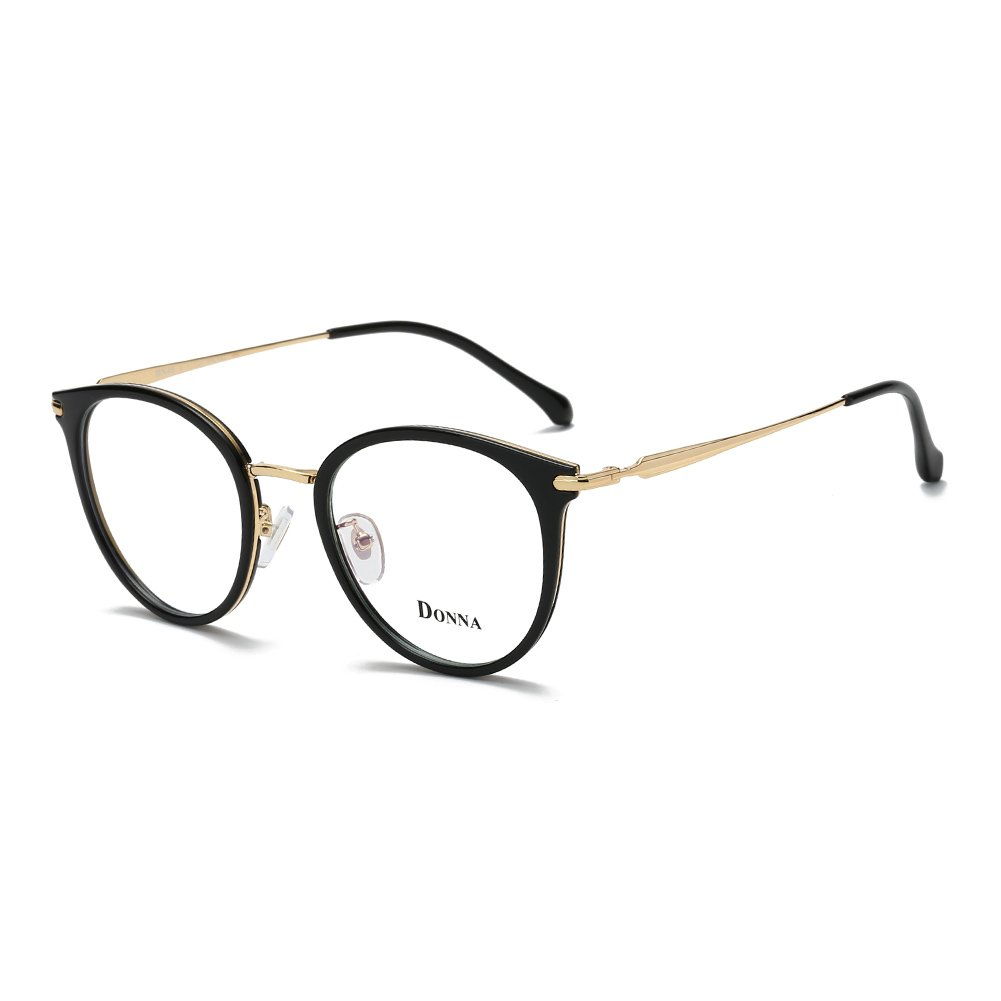 3ee8e3cbd4b5 Amazon.com  Donna Vintage Fashion Eyeglass Round Frame Unisex Computer  Reading Glasses DN48-A  Clothing