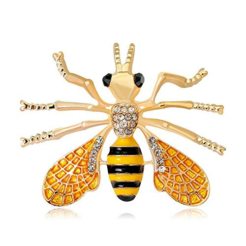 Charm Rhinestone Bee Insect Lapel Pin Brooch Delicate Gift Fashion Jewelry
