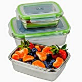JaceBox Stainless Steel Food Containers - Food Preservation Lunch Box Leak Proof! Light and Easy Storage .Set of 3! Bento Box ready Eco-Friendly Keto Lifestyle! BPA FREE by JaceBox!