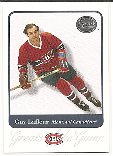 (Guy Lafleur 2001-02 Fleer Greats of the Game Montreal Canadiens Card #8)