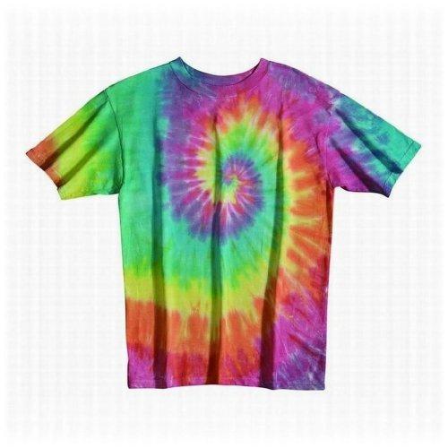 Tie Dye Mania Pastel Rainbow Swirl Tie-Dye Short Sleeve T - XX-Large