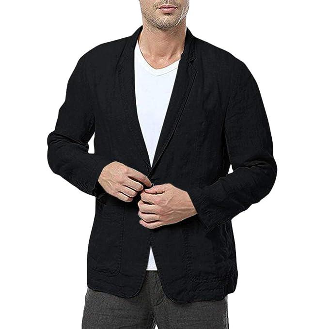 Amazon.com: Dermanony - Abrigo para hombre de corte ajustado ...