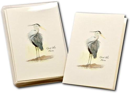 Crane Heron notecard Greeting card blank card bird Blue Heron
