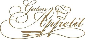 GRAZDesign 620562_30_081 Wandtattoo Küche Guten Appetit mit Kochmütze |  Wand-Worte für Esszimmer Restaurant und Küchen-Rückwände | Selbstklebende  ...