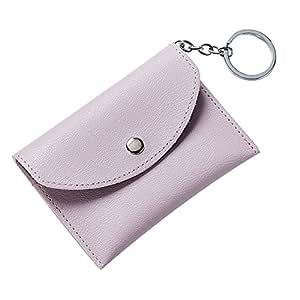 chytaii moneda Purpse bolsa clave Purpse Purpse de piel sintética soporte de tarjetas monedero con llavero morado morado 11.2 x 8 cm