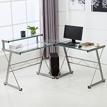 Desks & Home Office Furniture Escritorio esquinero en Forma de L ...