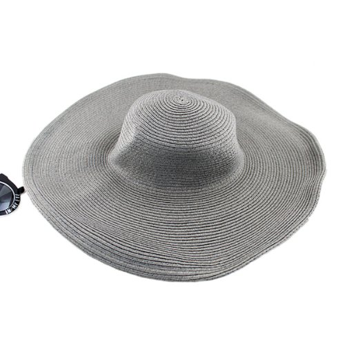 11 Color Can Be Available Straw Casual Fashion New Arrival 2014 Summer Designer Sun Hats (gray)