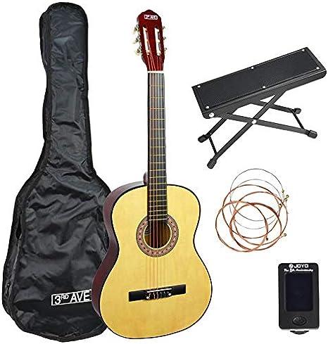 3rd Avenue STX20ANPK2 4/4 Guitarra Clásica Pack con Taburete de ...
