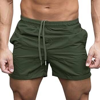 Yesmile Pantalones de Hombres Gimnasio Casual Deportes Jogging Pantalones Cortos de Cintura Elástica Aptitud (M, Ejercito Verde): Amazon.es: Ropa y ...