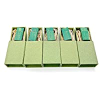 From our Premium Series: 5 Pack - 8GB Antique Finish - Rain Forest Green - Maple Wood - 8GB Flash Drive - Natural Eco Vintage USB 2.0 8GB Flash Drive - Inserted into a Super Strong handmade box with Raffia grass inside - Five Packaged Drives