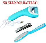 ROLILA Pedicure Kit: Electric Foot File, Stainless Foot File, and Nail Clipper