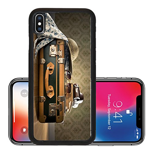 Liili Premium Apple iPhone X Aluminum Backplate Bumper Snap Case IMAGE ID 32443913 Vintage luggage with sunglasses camera and straw hat on wooden - Ebay Wooden Sunglasses